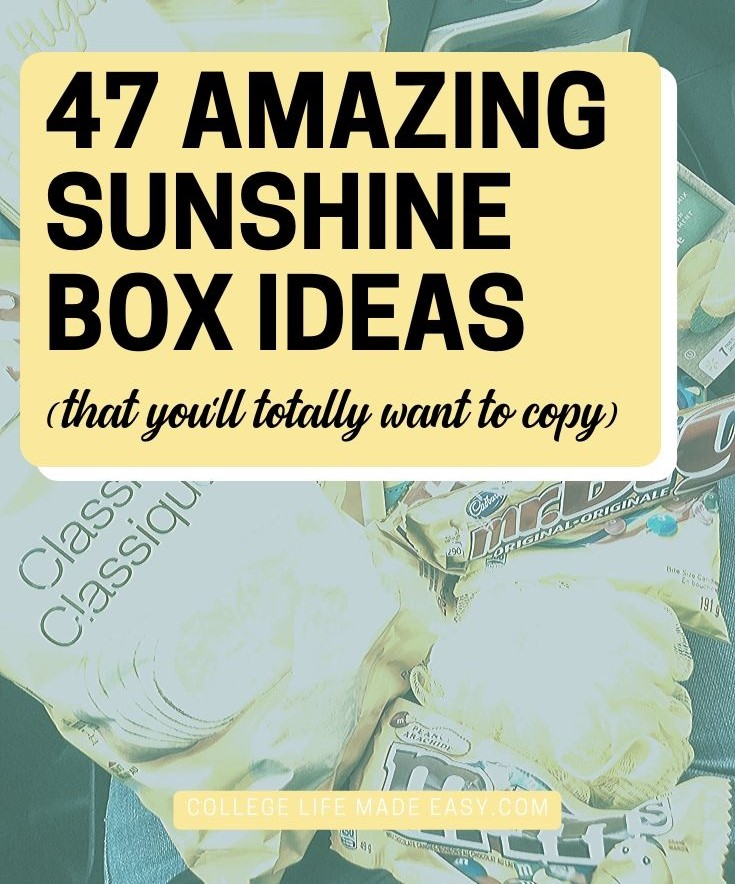 47 amazin box of sunshine ideas (that you'll totally want to copy)