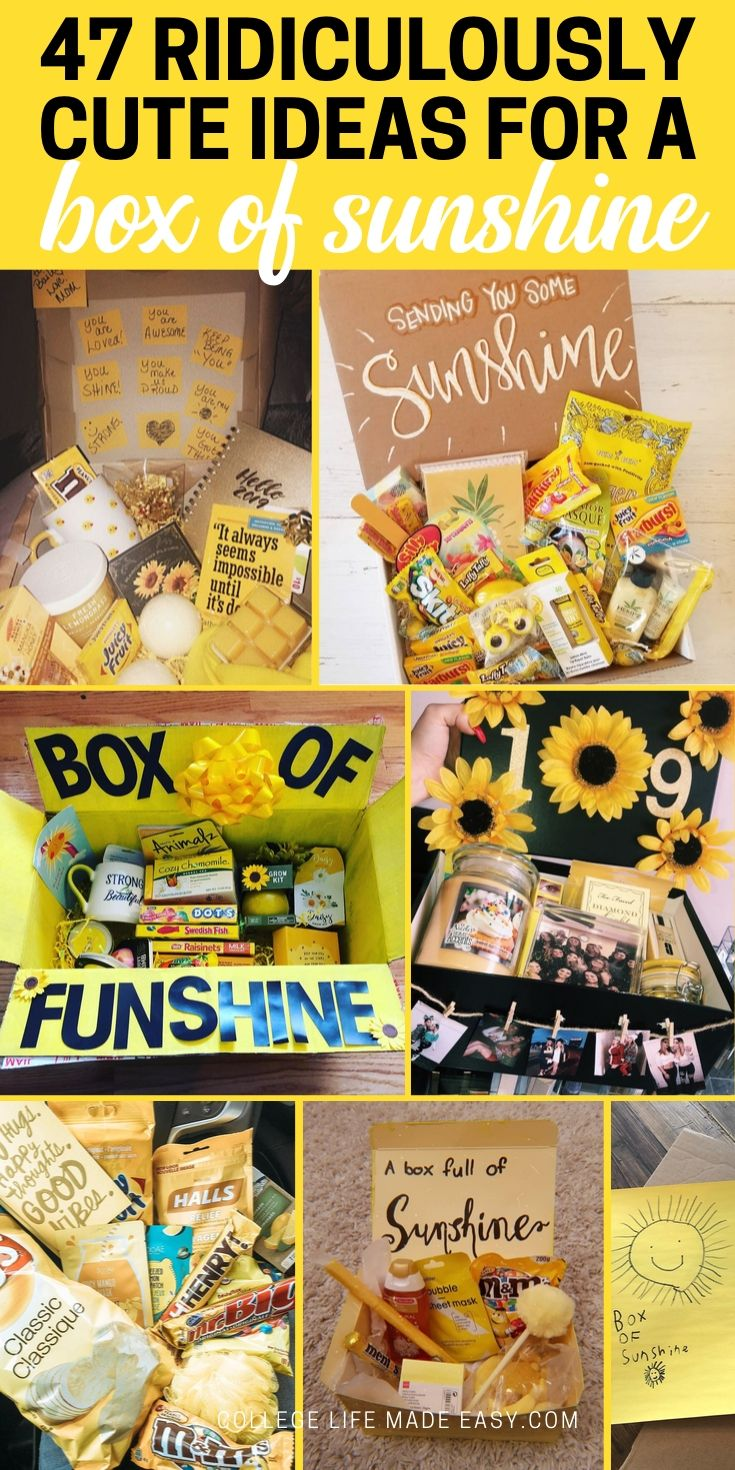 box of sunshine ideas, use them to send your own awesome care packge