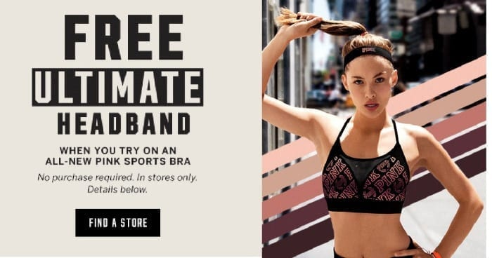 FREE Headband at Victoria's Secret When You Try on Bra! No Purchase Required!