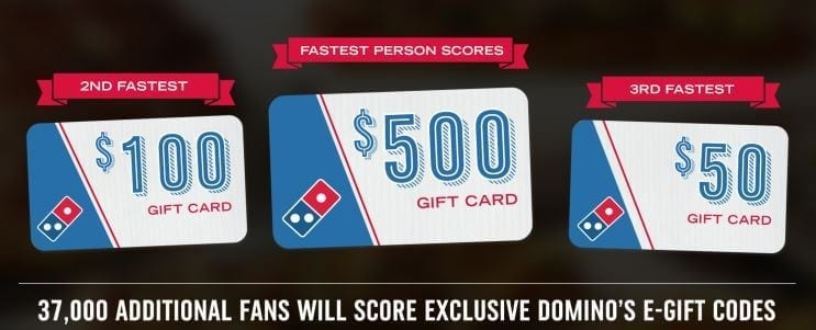 dominos pizza giveaway