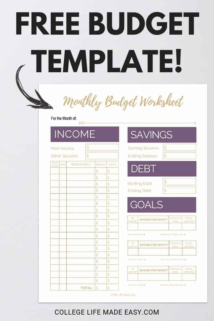 Need help with your budget? My simply effective monthly budget template will help you keep track of your finances right away. Click to download this free printable!