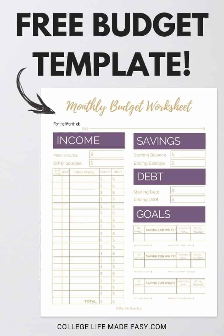 simple budget worksheet free