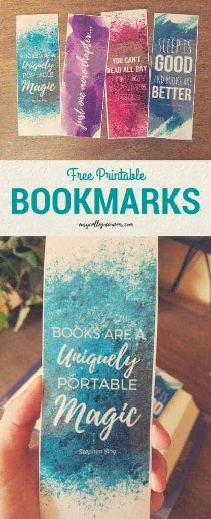 Free Printable Bookmarks | Student Ideas | Link Fun Watercolor With Quotes | For Adults. Download and print!