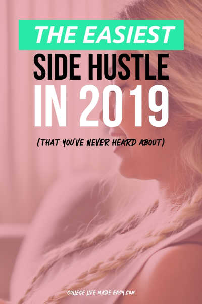 Need a side hustle idea that you can do at home? This is pretty much the easiest option for making some extra cash this year. The best part is that you can do it anywhere because it's completely passive. Click to start earning your first $$! #sidehustle #makingmoney #income #easy #college #collegelife #extramoney