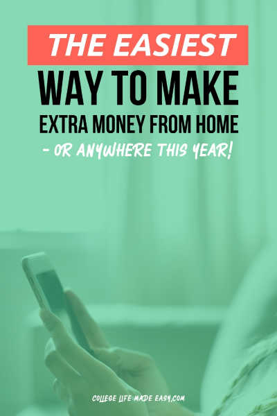 This is the best easy way to make money this year, it works for introverts, moms, college students, or anyone really! Set it up once and then forget it until it's time to cash out. I use month after month! #sideincome #sidehustle #makingmoney #extracash #college #collegelife