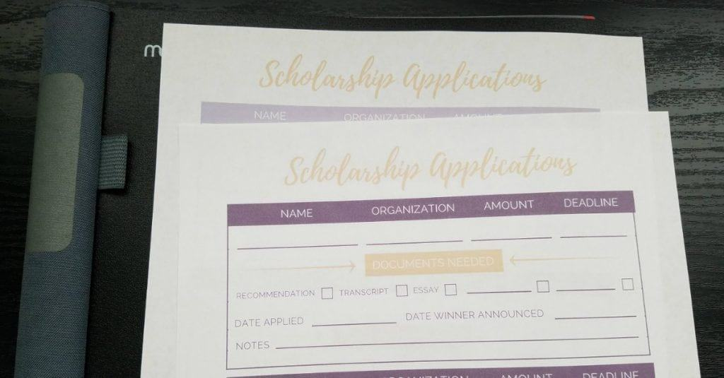 scholarship application tracker