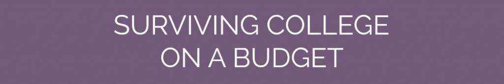 Free College Semester Budget Worksheets