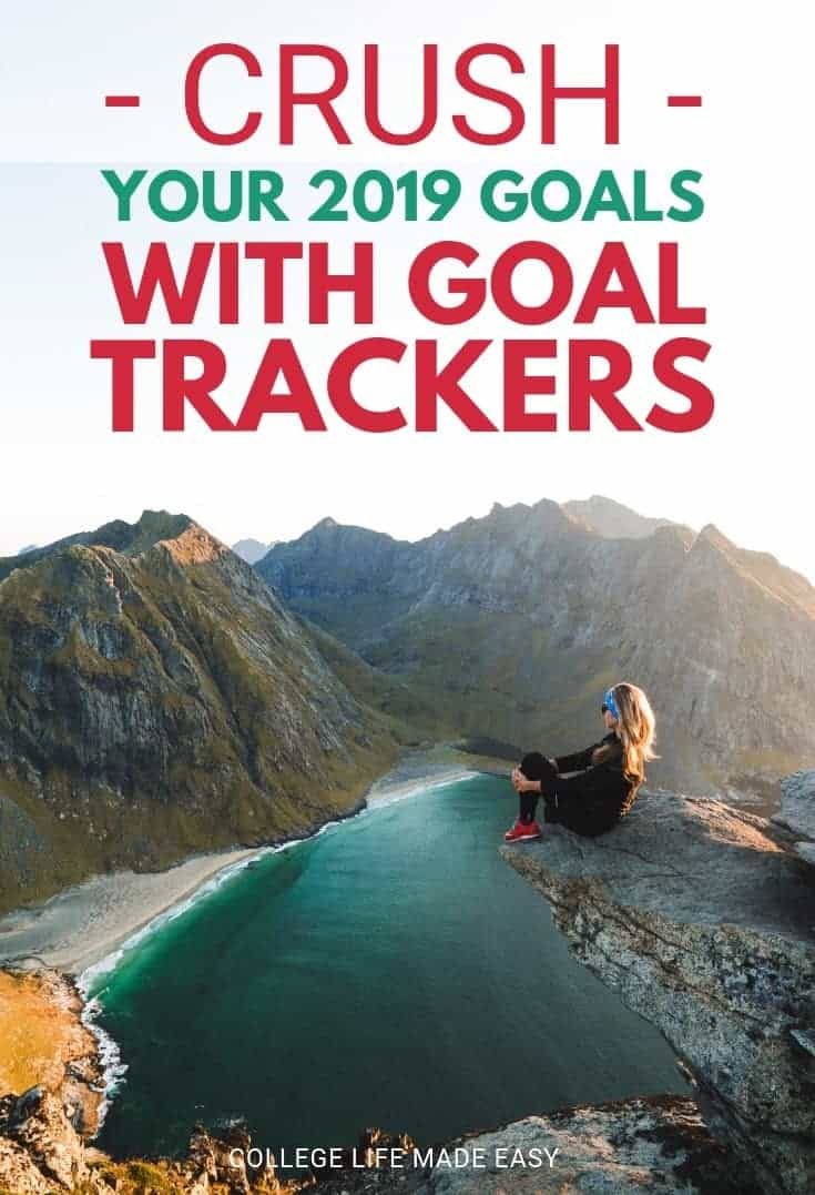 The best way to make sure you *actually* accomplish your goals is to use a goal tracker. Find out what I'm using to visually track my goals every month in 2019 by clicking! #goals #goalsetting #2019 #planner