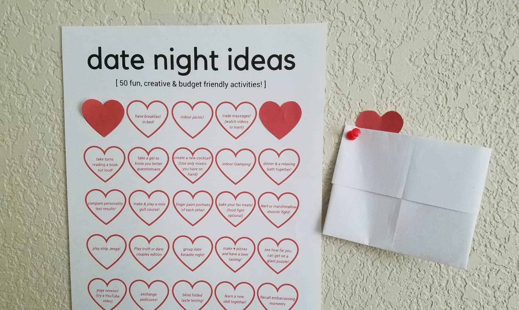 50 Budget Friendly & Creative Stay At Home Date Ideas