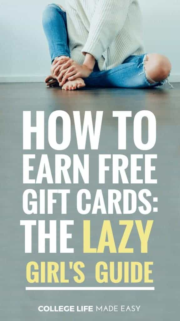 How to Earn Free Gift Cards: The Lazy Girl's Simple Guide