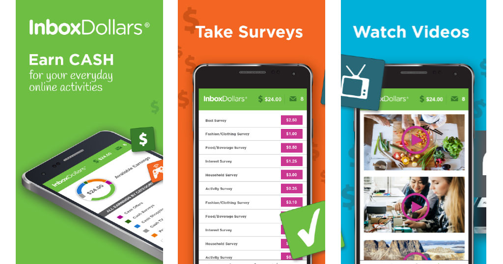 InboxDollars is an easy way to earn cash and gift cards by taking surveys and watching videos