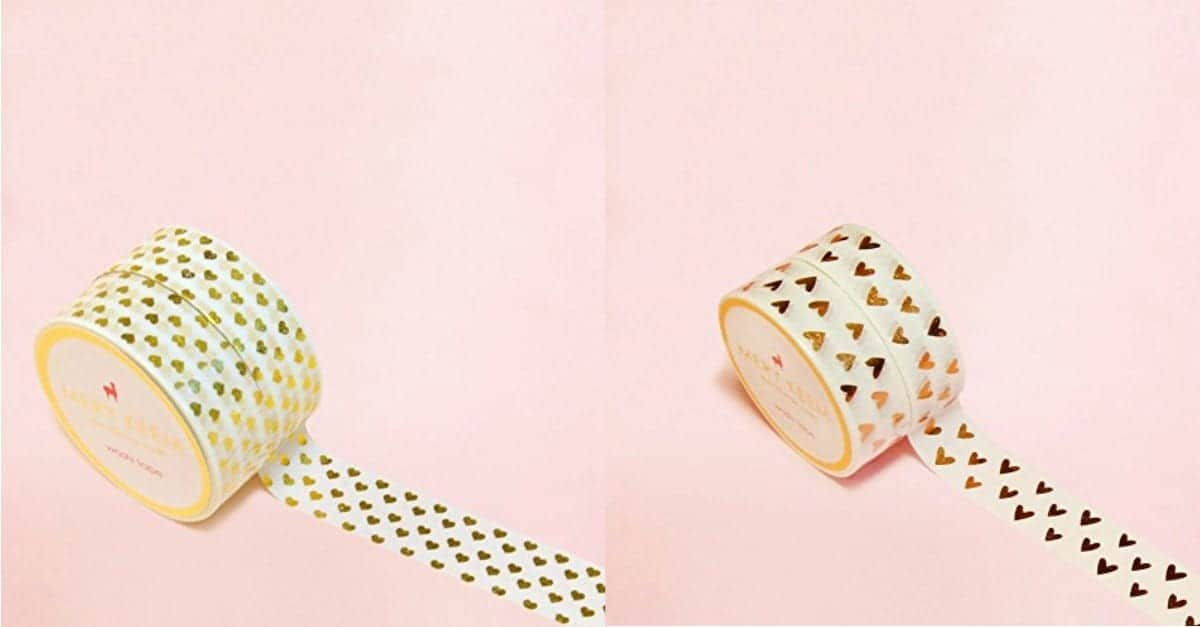 gold washi tape ideas