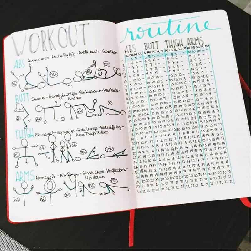 10 Fitness Bullet Journal Layout Ideas!