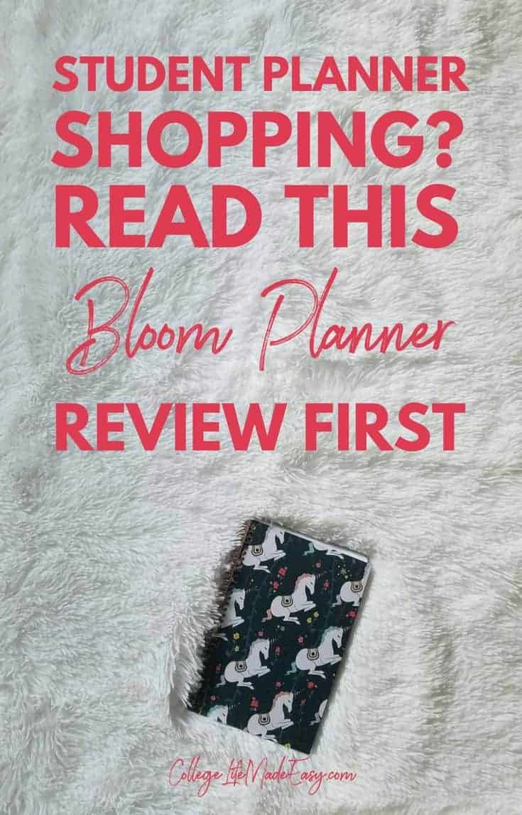 Student Planner Shopping for College Read This Bloom Review FIRST