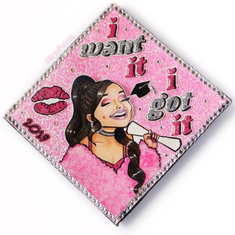best graduation cap ideas - ariana grande