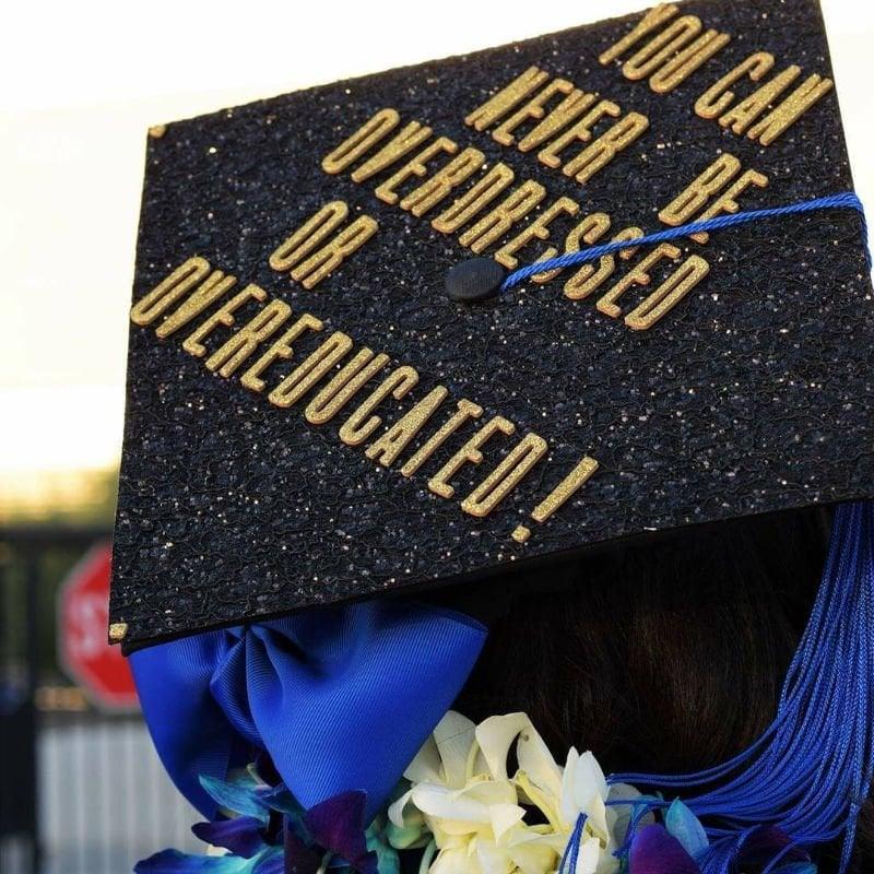 cap ideas for graduation - overdressed