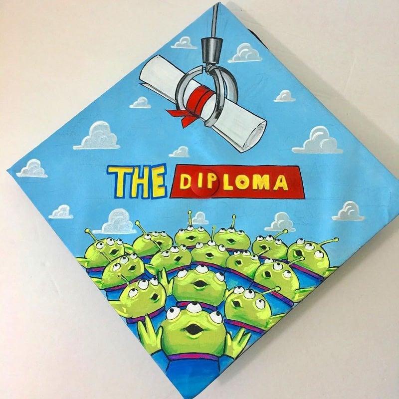 college graduation cap ideas - toy story
