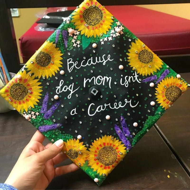funny graduation cap ideas - dog mom