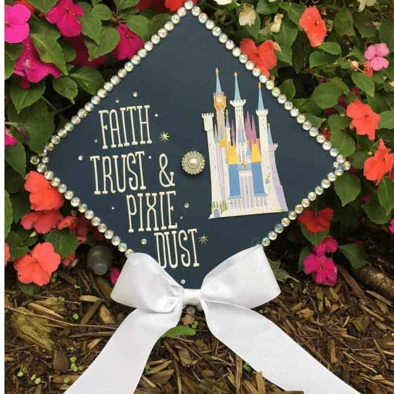 graduation cap decoration ideas - disney castle