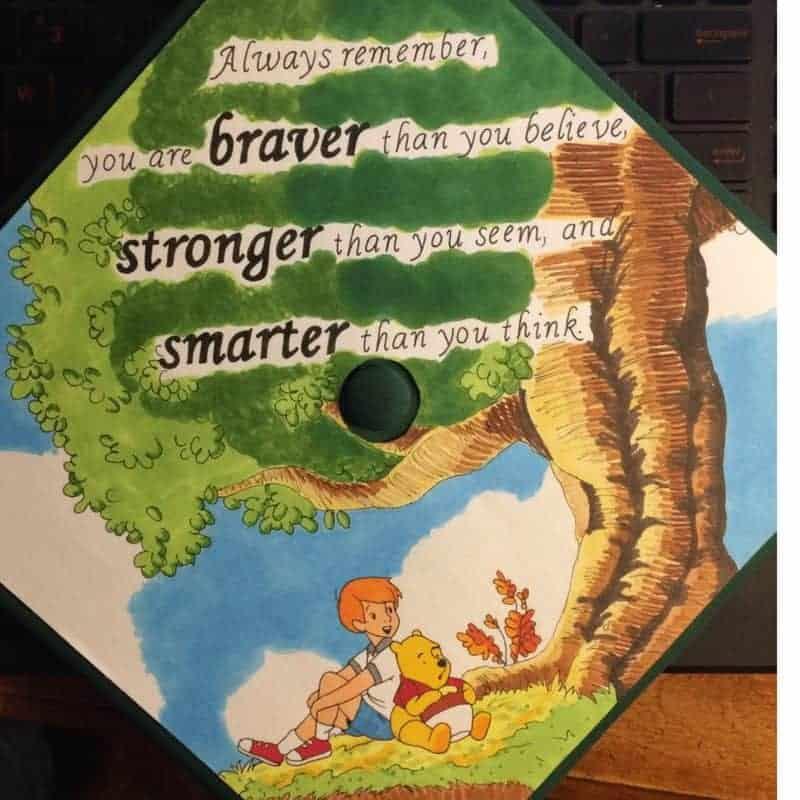 grad cap quotes - winnie the pooh