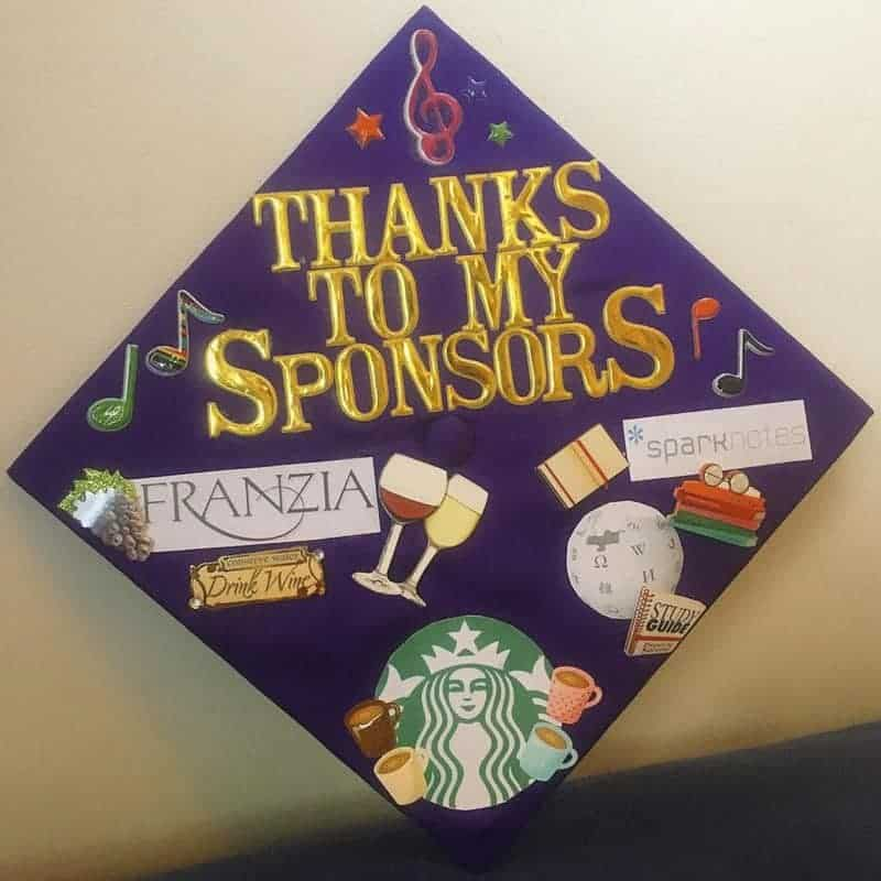 graduation cap decoration ideas - thx sponsors
