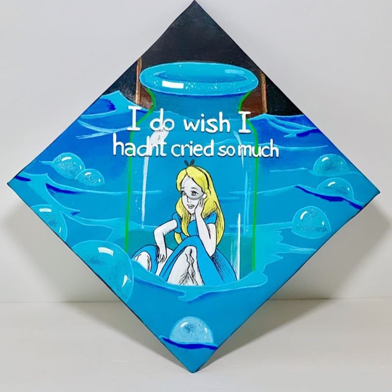 grad cap ideas - Disney alice in wonderland
