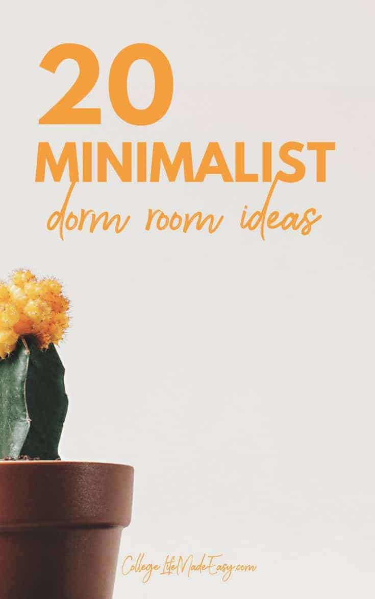 The hardest part of decorating your college dorm has gotta be coming up with ideas! Well no worries, because this list of minimalist dorm room ideas is just the inspiration you need! #college #student #dorm #dormroom #dormideas #collegelife #decoratingideas