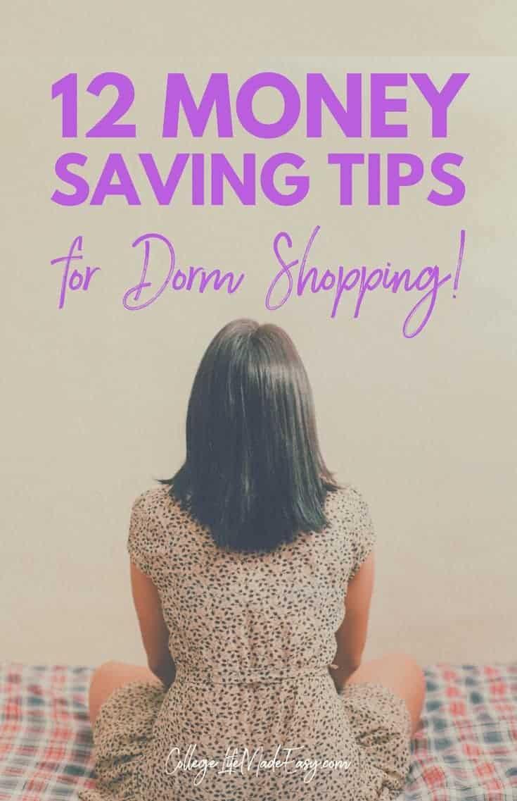 12 Money Saving Tips for Dorm Shopping