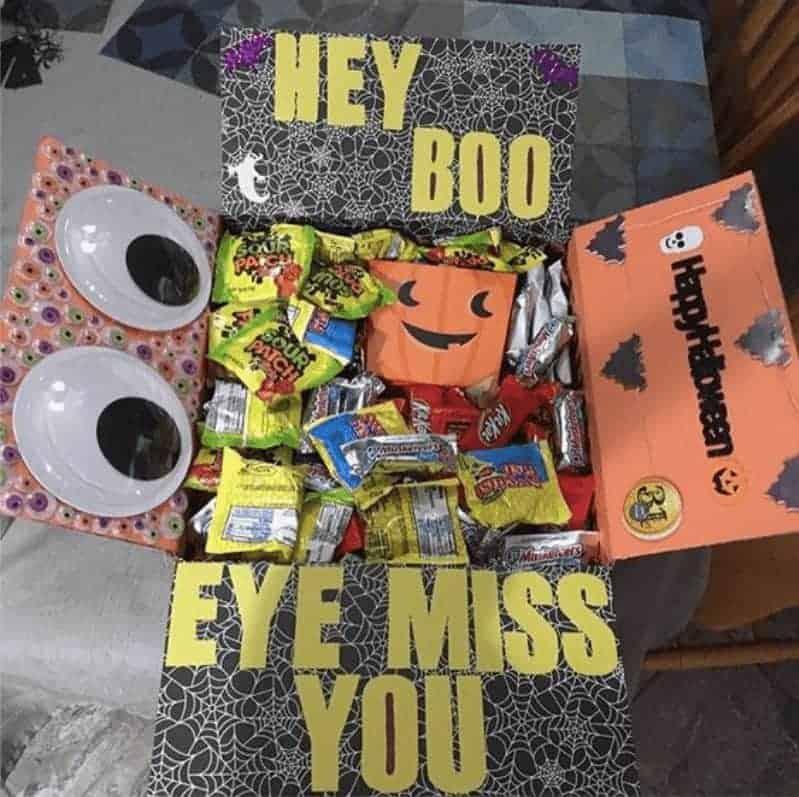 Hey Boo, Eye Miss You! Halloween care package idea