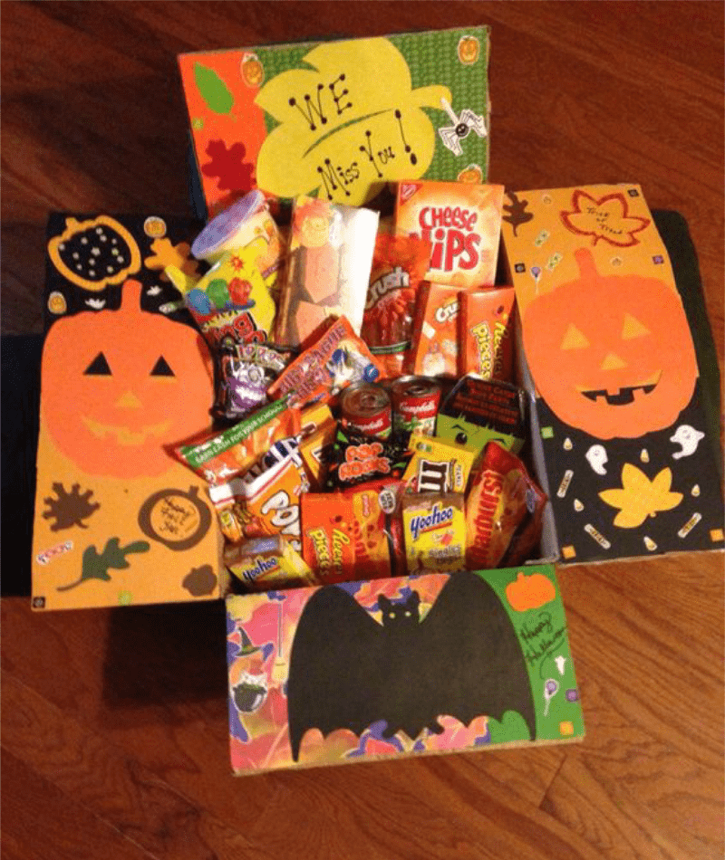 ideas for Halloween themed care package