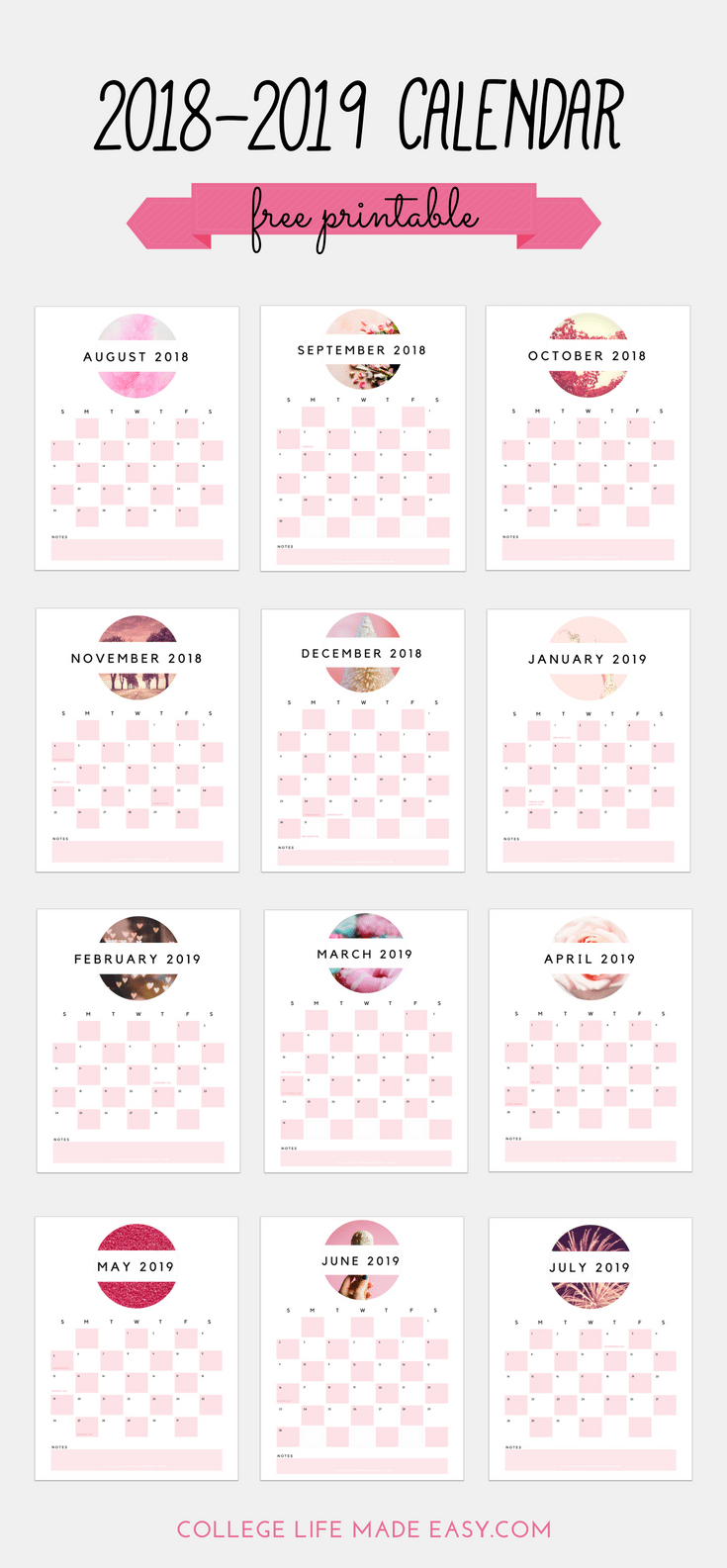 graphic about Cute Free Printable Calendars identify Free of charge 2018 - 2019 Printable Calendar (Lovely within Smooth Red!)