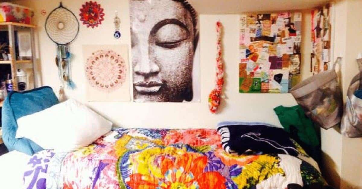 boho dorm room