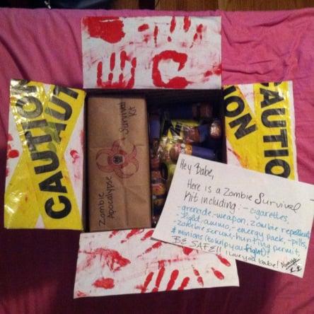 Halloween care package, zombie idea