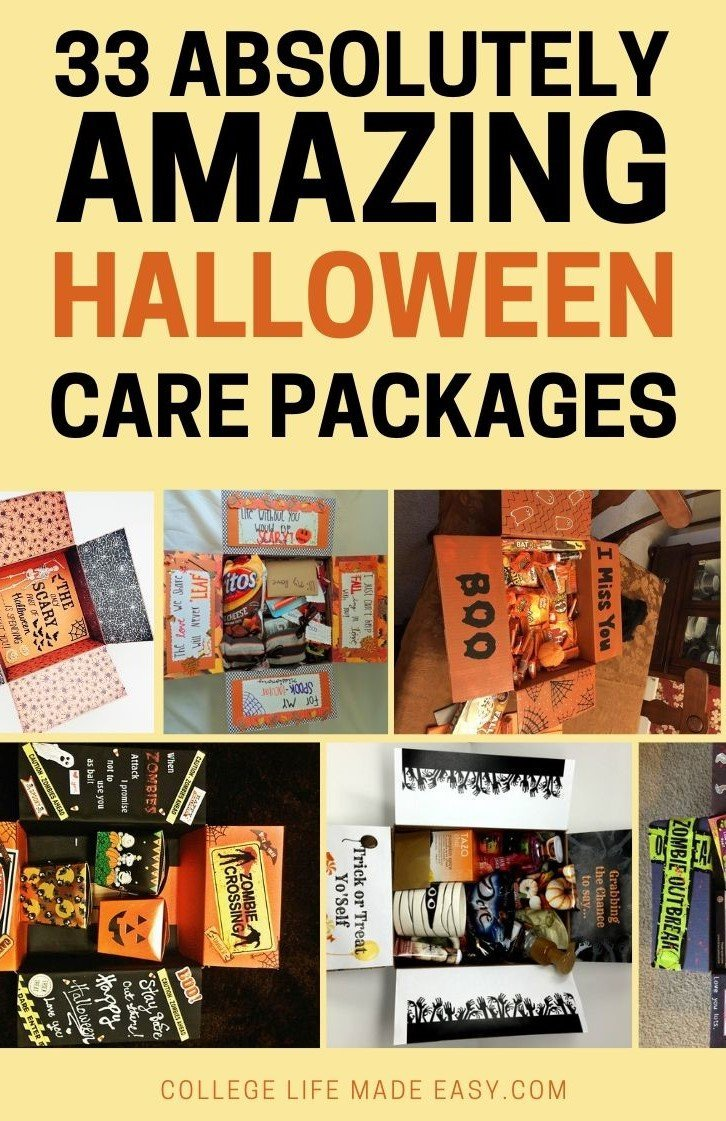35 absolutely amazing Halloween care package ideas to send to college students! Super easy to copy & DIY   #college #carepackage #carepackageideas #HappyHalloween #Halloween #Halloweenideas #collegestudents #giftideas #fall #autumn