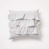 Bella Ruffle Pillow in grey