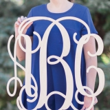 Traditional Wooden Monogram Letters