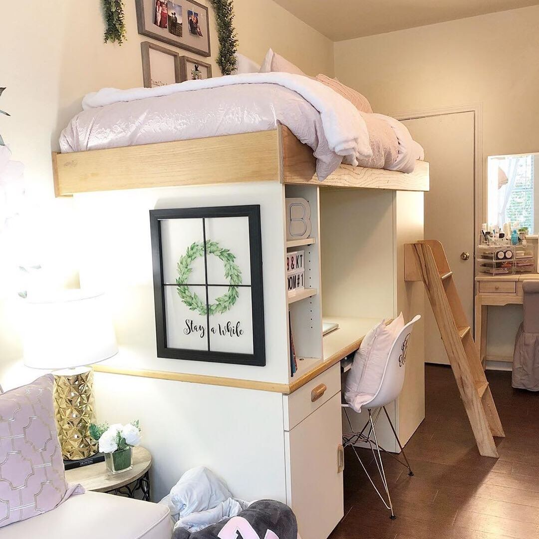 14 Seriously Impressive Girl Dorm Room Layout Ideas