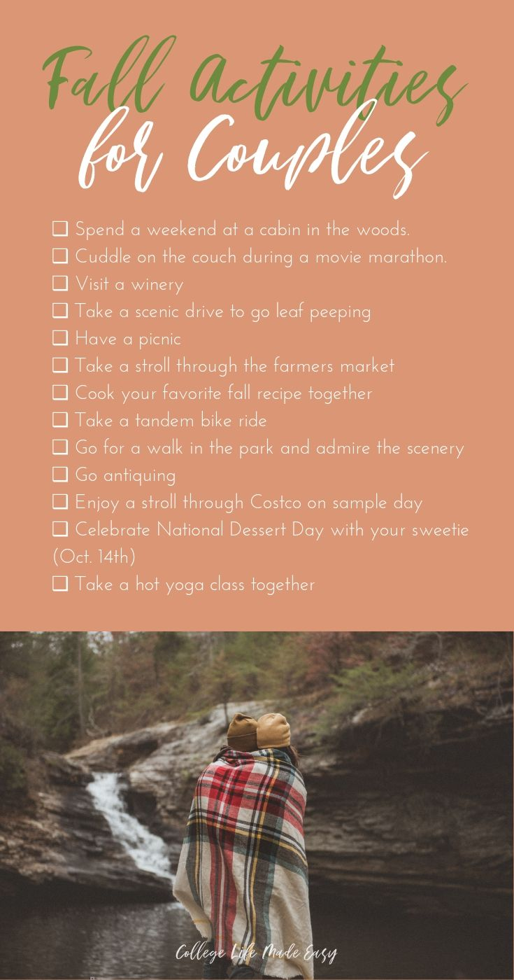 fall activities for couples infographic