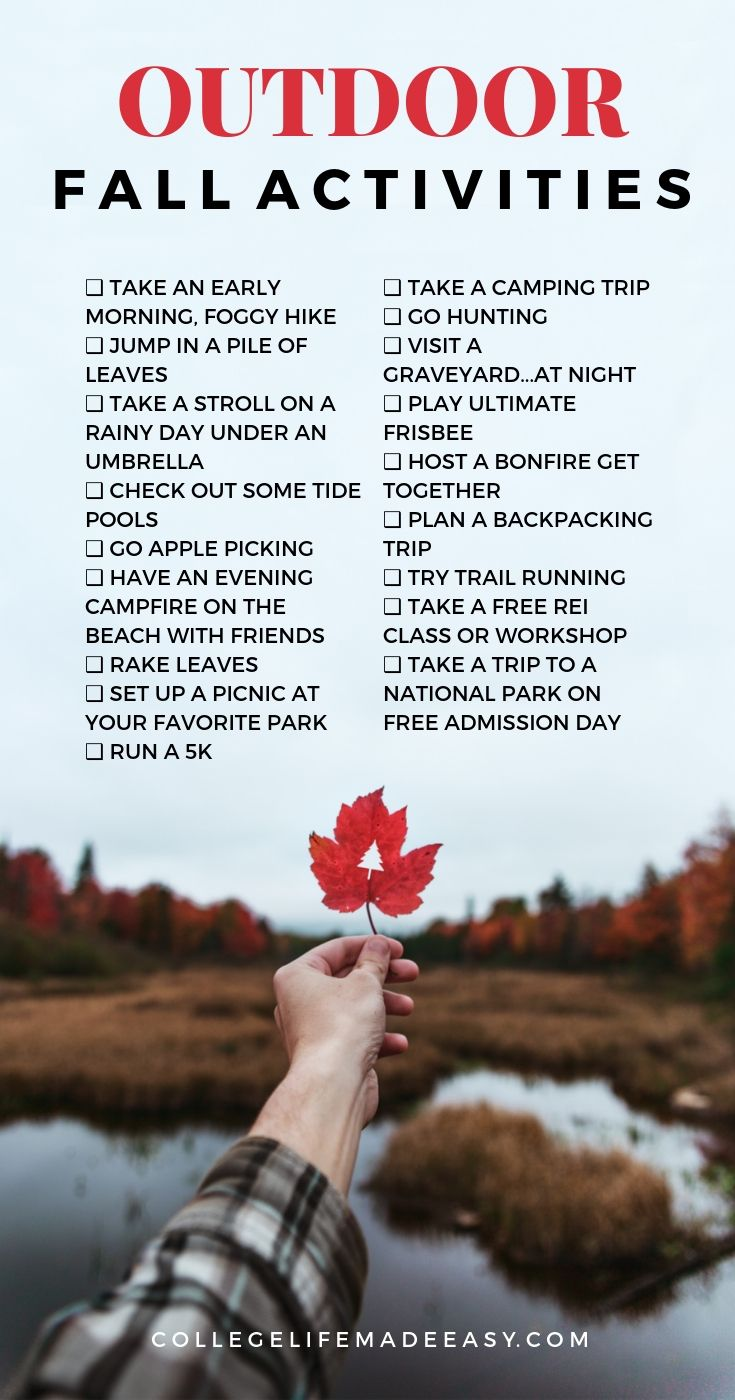 outdoor fall activities infographic