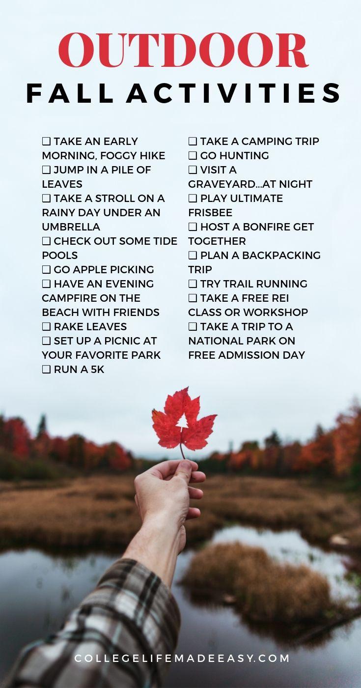 outdoor fall activities infographic