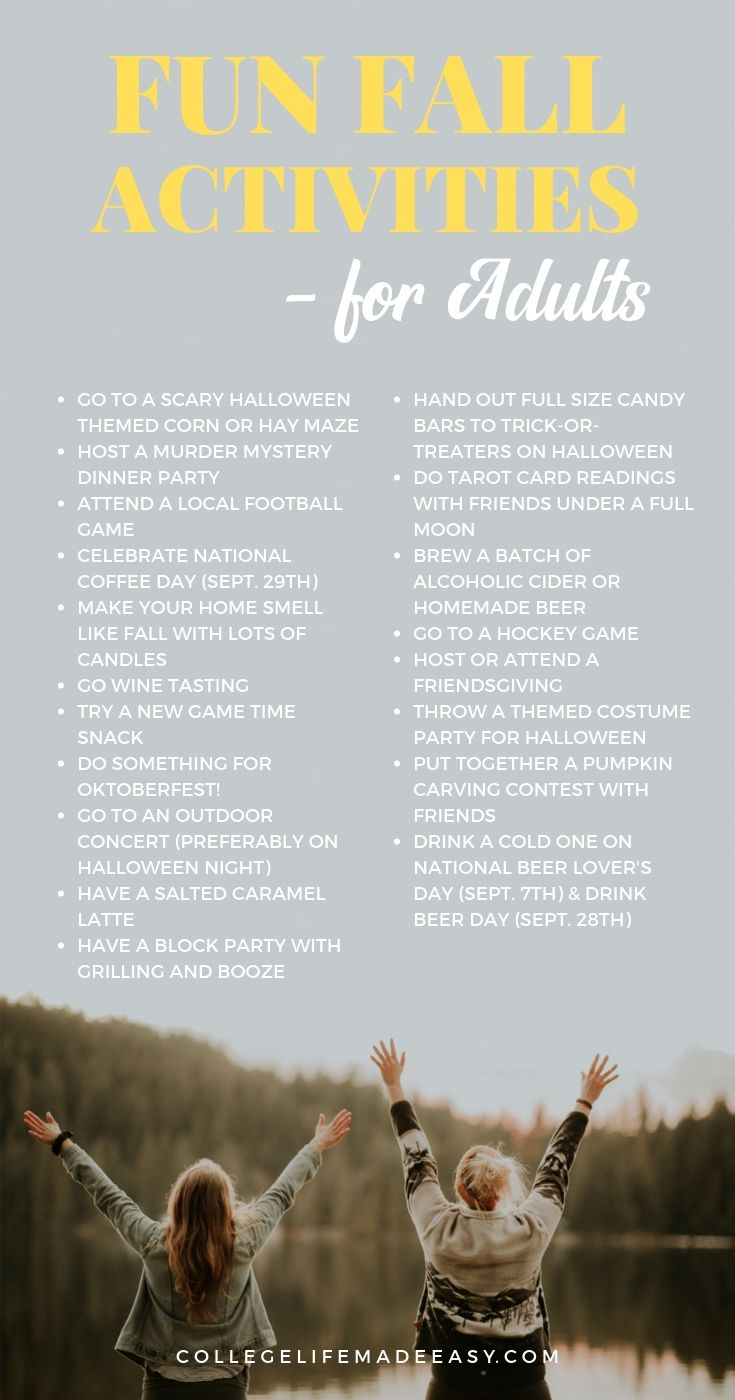 fun fall activities for adults infographic
