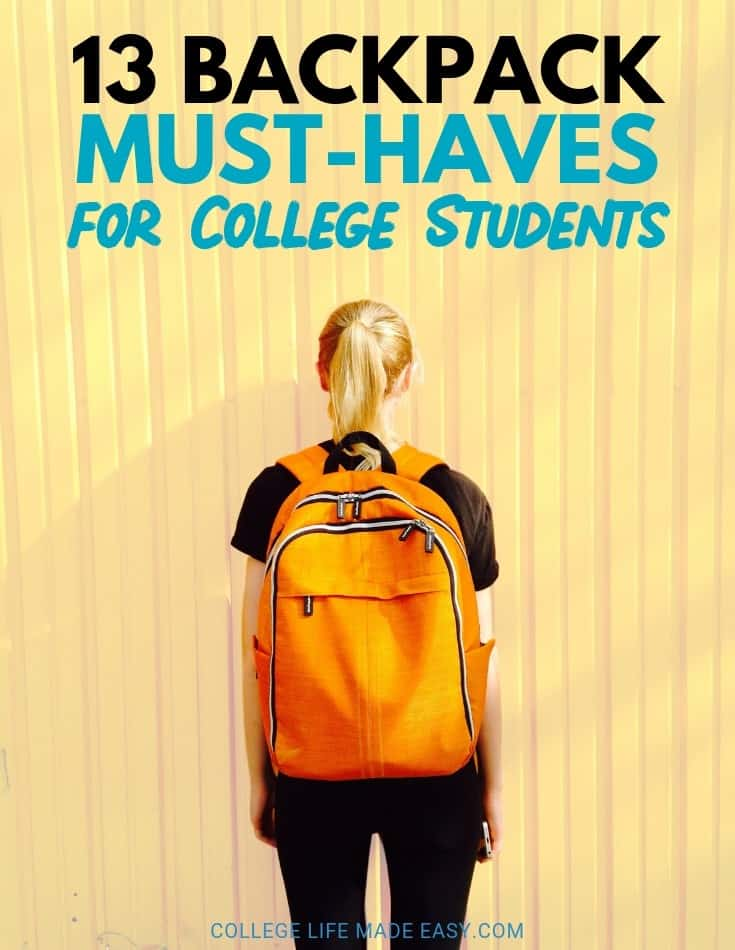 The college must-haves for freshman year all the way to senior year. 13 supplies I do NOT go without when I have a busy day on campus. #college #collegelife #student #essentials #backpack #musthave