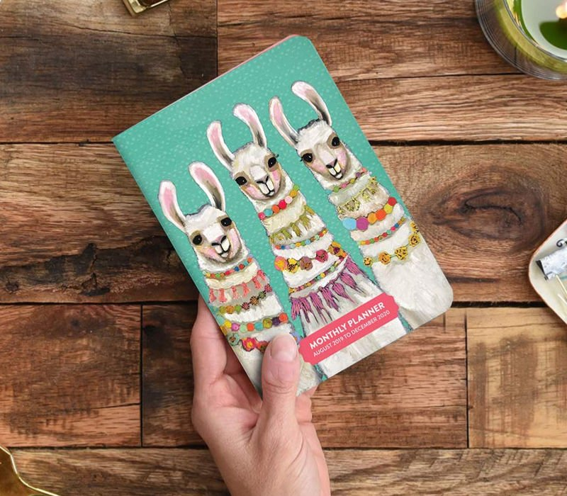 monthly college planners llama design
