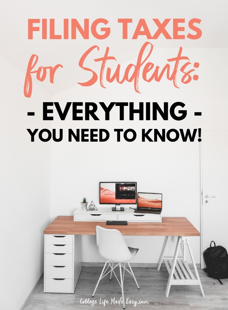 Filing taxes for the first time on your own can be pretty confusing! But it doesn't have to be, in this guide about filing taxes for students I answer all your questions about the process! Deduction, write-offs, dependent status, independent status and more! Click to read and start getting a better understanding about taxes today! #taxes #college #collegelife #money #moneytips #finance #student (Tax Tips)
