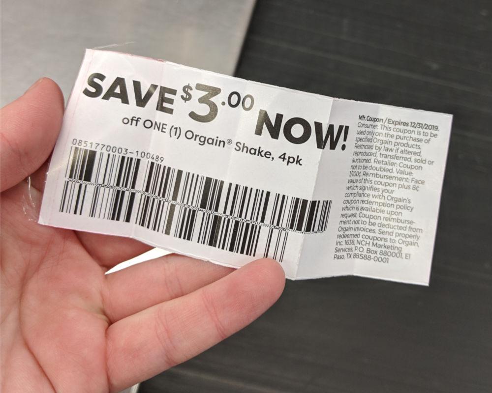 Orgain Organic Shakes peelie coupon