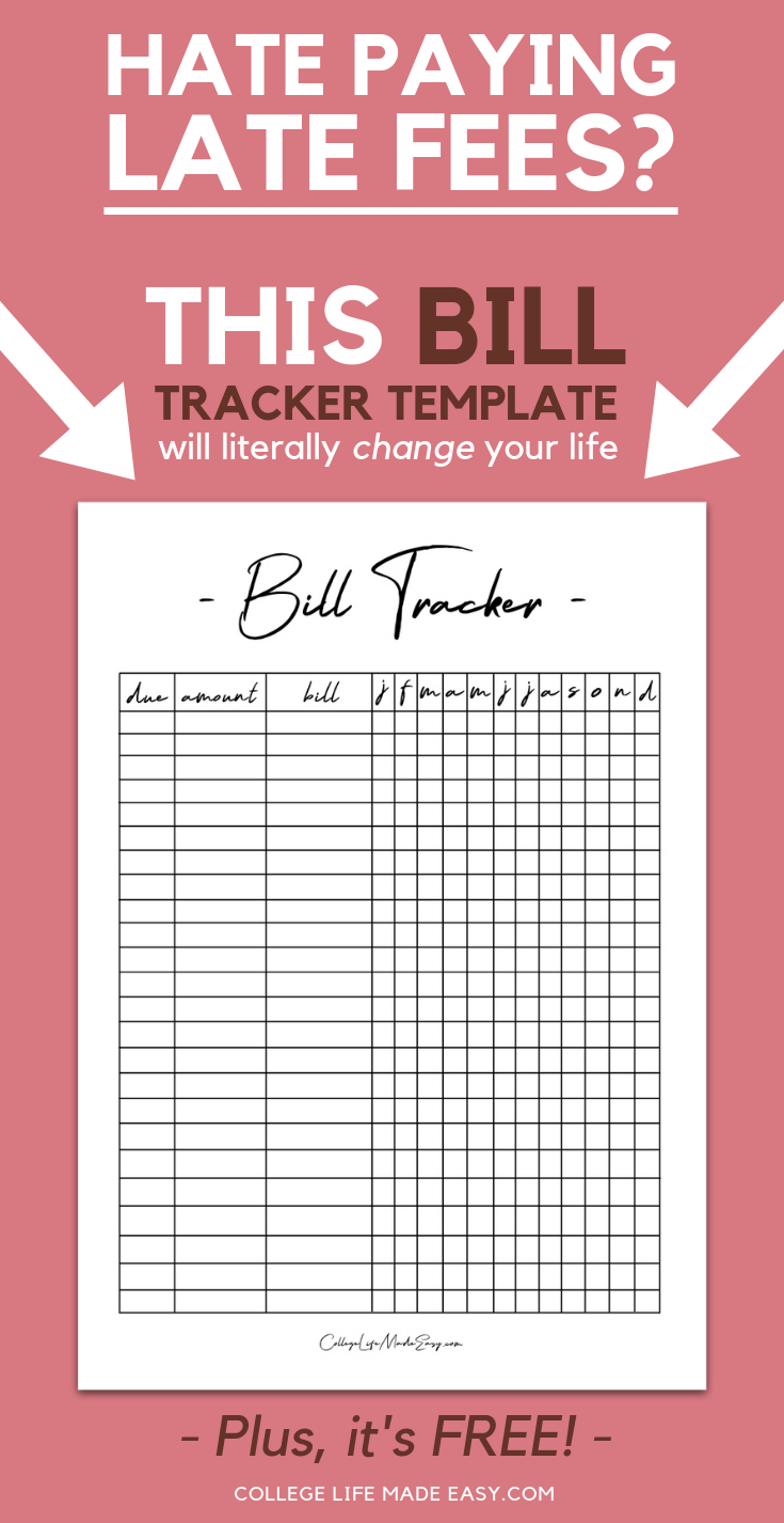 This Free Bill Tracker Template Will Literally Change Your Life 2