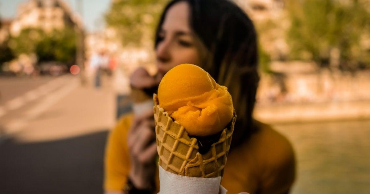 yellow ice cream sorbet treat yourself