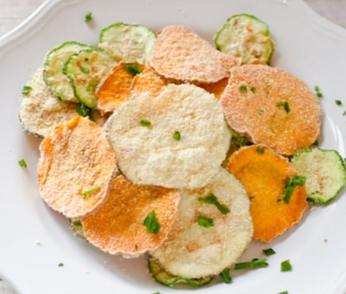 cheap college snack - microwave veggie chips