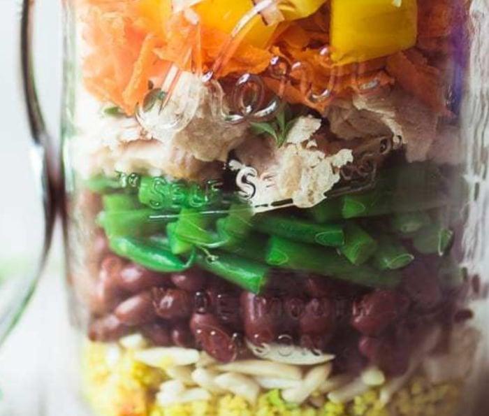 cheap healthy college meals - tuna salad in a jar