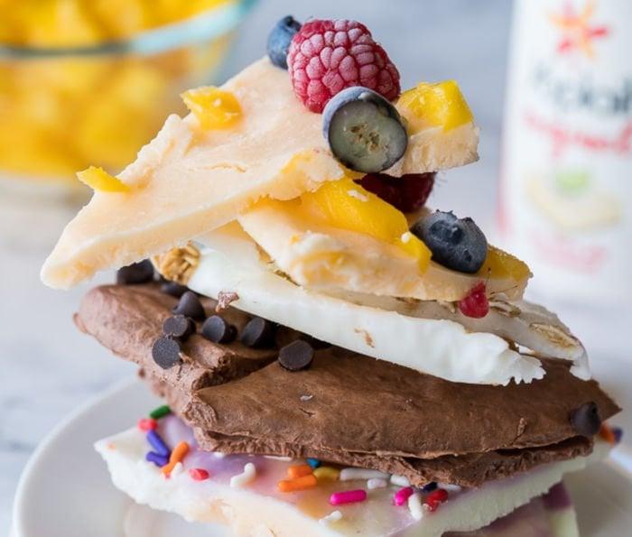 cheap healthy recipes for college student - frozen yogurt bark